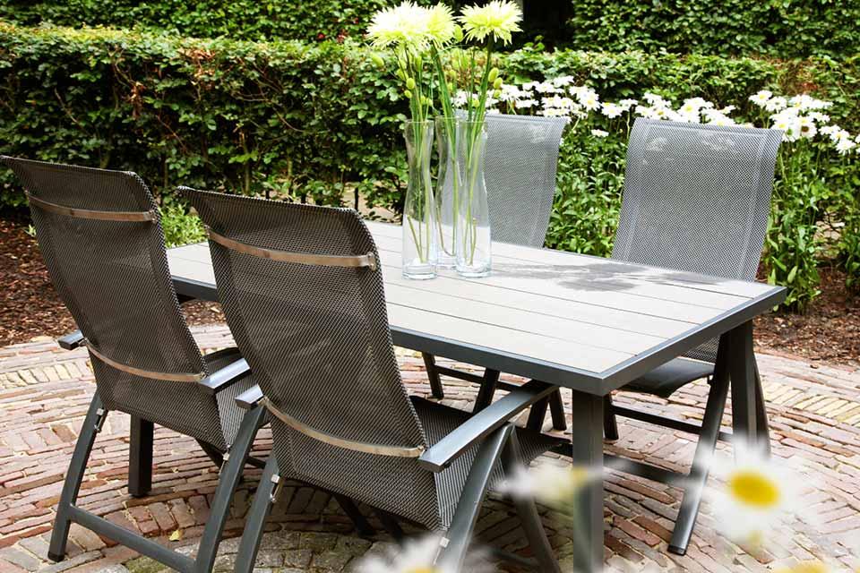 Tuinset Eetset Sentosa | Aluminium-Textilene | 4 Seasons Outdoor!