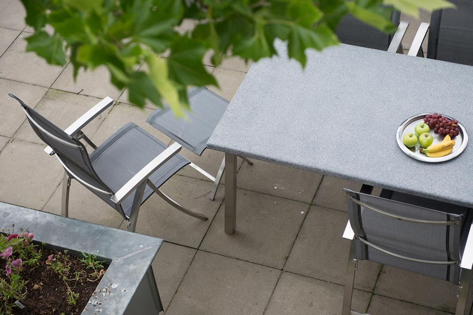 Tuinset Eetset Slimm | RVS-Textilene | 4 Seasons Outdoor!
