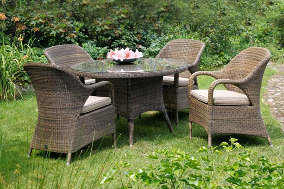 Victoria Tuintafel Dining Table | Polyloom Wicker | 4 Seasons Outdoor!