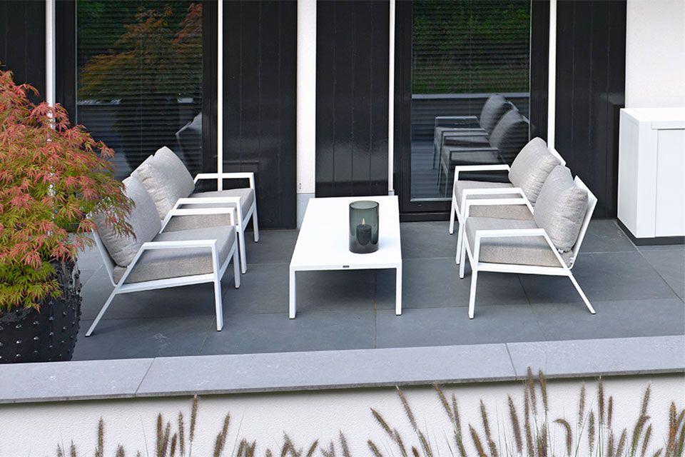 Loungeset panama exclusieve tuinmeubelen van borek - Tuinmeubelen laag aluminium ...