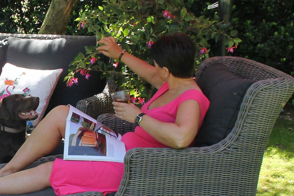 Loungeset La Donna Cappuccino Wicker - FOLM!