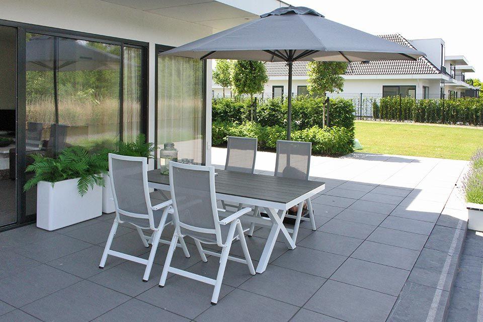 Verrassend Parasol 350 cm Solar De Luxe - Antraciet / Faded Grey - Fonteyn LO-74