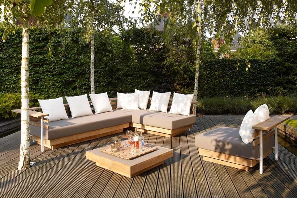 Loungeset Hoekbank London Teakhout Life Outdoor Living!